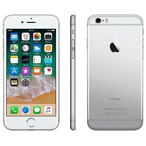 "iPhone 6s Apple com 3D Touch, iOS 11, Sensor Touch ID, Câmera iSight 12MP, Wi-Fi, 4G, GPS, Bluetooth e NFC, 32GB, Prateado, Tela 4,7"""