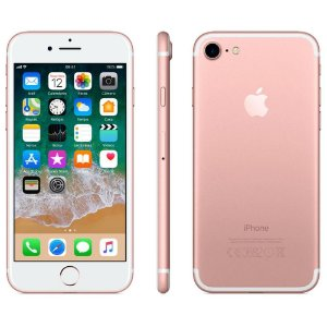 iPhone 7 Apple 3D Touch, iOS 11, Touch ID, Câm.12MP, Resistente à Água, 32GB, Ouro Rosa, Tela 4,7""