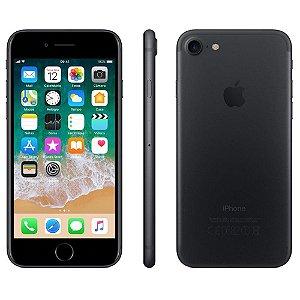 """iPhone 7 Apple 3D Touch, iOS 11, Touch ID, Câm.12MP, Resistente à Água e Sistema de Alto-falantes Estéreo, 32GB, Preto Matte, Tela HD de 4,7"""""""