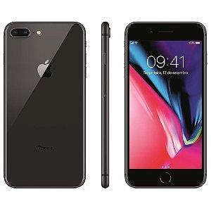 """iPhone 8 Apple Plus com 64GB, Tela Retina HD de 5,5"""", iOS 11, Dupla Câmera Traseira, Resistente à Água, Wi-Fi, 4G LTE e NFC - Cinza-Espacial"""