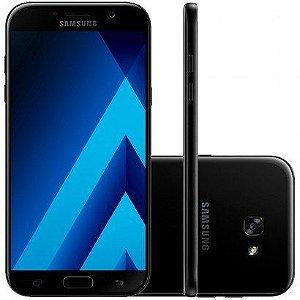 """Smartphone Samsung Galaxy A7 2017 A720F/DS Preto com 64GB, Dual Chip, Tela 5.7"""", 4G, NFC, Câmera 16MP, Android 6.0, Processador Octa-Core e 3GB RAM"""