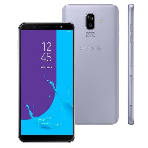 """Smartphone Samsung Galaxy J8 4GB RAM, Câmera Traseira Dupla, Câmera Frontal 16MP, Dual Chip, Android 8.0, 64GB, Prata, Tela Infinita de 6,0"""""""