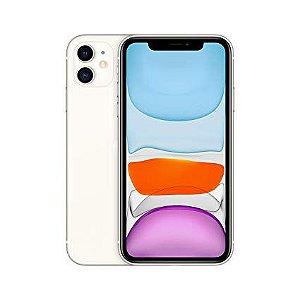 """iPhone 11 Apple com 64GB, Tela Retina HD de 6,1"""", iOS 13, Dupla Câmera Traseira de 12 MP, Resistente à Água e Bateria de Longa Duração - Branco"""