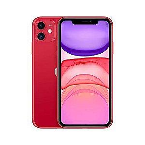 """iPhone 11 Apple com 64GB, Tela Retina HD de 6,1"""", iOS 13, Dupla Câmera Traseira de 12 MP, Resistente à Água e Bateria de Longa Duração - Vermelho"""