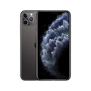 """iPhone 11 Pro Max Apple com 64GB, Tela Retina HD de 6,5"""", iOS 13, Tripla Câmera Traseira, Resistente à Água e Bateria de Longa Duração - Cinza Espacial"""