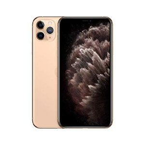 """iPhone 11 Pro Max Apple com 64GB, Tela Retina HD de 6,5"""", iOS 13, Tripla Câmera Traseira, Resistente à Água e Bateria de Longa Duração - Dourado"""