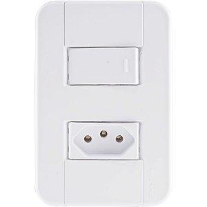 Interruptor Simples + Tomada 2Pt 10A/250V Tablet - Tramontina