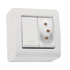Interruptor Simples C/Tomada 10A/250V - Tramontina
