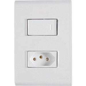 Interruptor Simples+1Tomada 2P+T 20A - Tramontina