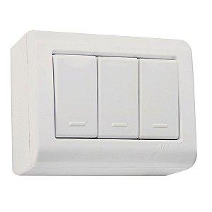 Interruptor Sobrepor 3S Simples - Tramontina