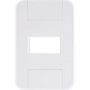 Placa 1P Horiz 4X2 Tablet Branca - Tramontina