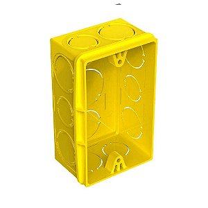 Caixa De Luz 4X2 Amarela - Tigre