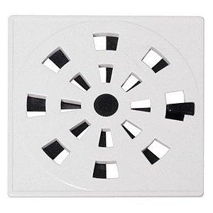 Grelha Rotativa Quadrada Branca 10,2 X 10,2Cm - Astra