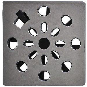 Grelha Rotativa Quadrada Cromada 9,4 X 9,4 Cm - Astra