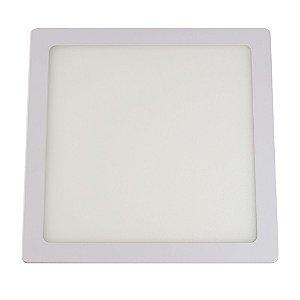 Painel Slim Led Embutir Quadrado Branco 24W 6500K - Llum