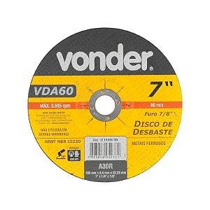 Disco Desbaste 180,0X6,4X22,23 Vda-60 - Vonder