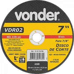 Disco Corte 177,8X3,0X22,22 Vdr02 - Vonder