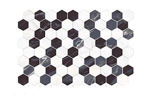 Rev Hexagonal Mosaico Nero 34X50 Cx C/2,04Mt - Pamesa