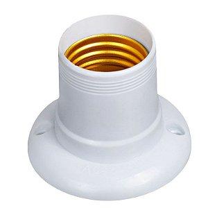 Soquete Coluna C/Rosca M10 Plastico Branco - Benlux