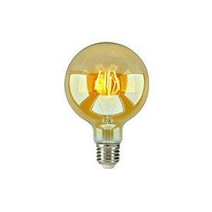 Lampada Led Filamento Bulbo Ambar G95 4W 3000K - Embuled