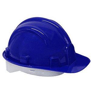 Capacete Construcao Com Carneira Azul - Worker