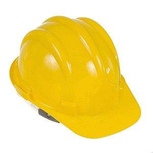 Capacete Construcao Com Carneira Amarelo - Worker