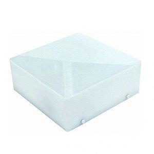 Plafon Quadrado Clean 37 E-27 Branco - Taschibra