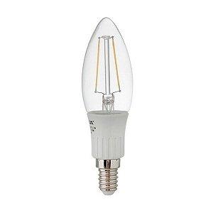 Lampada LED Vela Filamento 3W 2700K - Ourolux