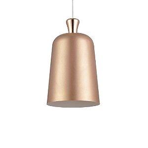 Pendente Cupula Bell Cobre/Branco 23cm - Avant