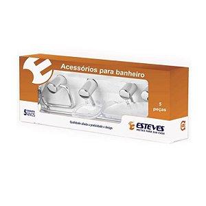 Kit de Acessorios Para Banheiro 5 Peças - Esteves