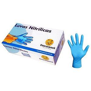 Luva Nitrilica S/Po Azul Descarpack