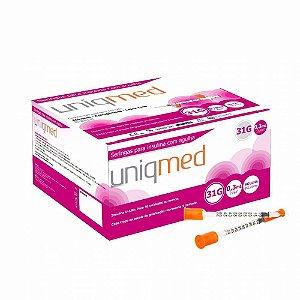 Seringa para insulina 0,3ml C/ Agulha 31G 6x0,25mm PCT 10UN