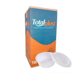 Pote para açaí c/ tampa 500ml 142X58MM CX 200 UN Totalplast
