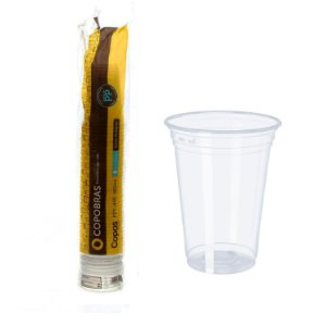 Copo Plástico 400ml Transparente PP CX500 UN Copobras