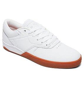 Tenis DCSHOES Tiago Lemos branco/caramelo