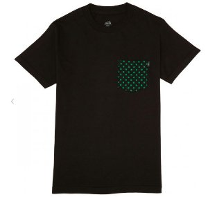 Camiseta LAKAI Dotted pocket preto