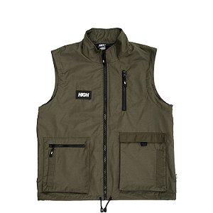 Colete HIGH Company 5pocket vest logo verde - G