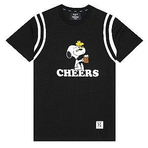 Camiseta HUF Cheers Football Preta