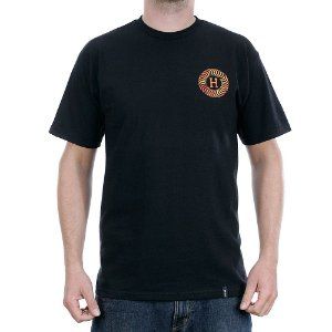 Camiseta HUF Spitfire Fire Swirl Preta
