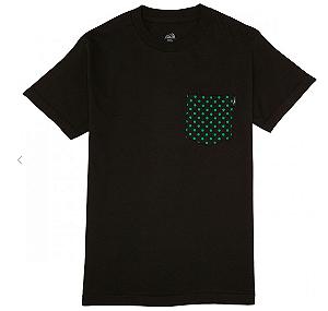 Camiseta Lakai Dotted Pocket preto