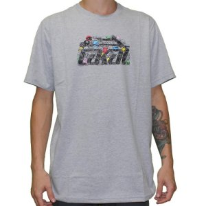 Camiseta Lakai Glaboe cinza mescla