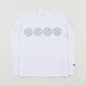 Camiseta Manga Longa Vans x Independent branco