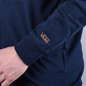 Camiseta Manga Longa Vans x Independent azul marinho