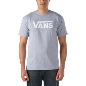 Camiseta Vans Classic Logo cinza mescla