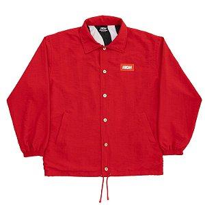 Jaqueta High Company Coach Jacket Fine Safari vermelha