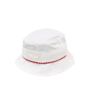 Bucket Hat High Company Striped branco