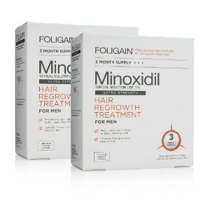 Foligain Minoxidil 5% - 6 Meses de Tratamento