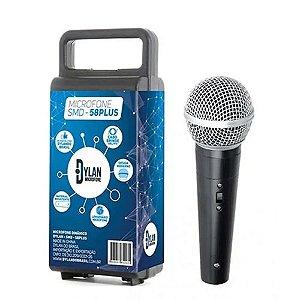 Microfone Dinâmico Smd58 Plus Dylan Com Cabo E Case