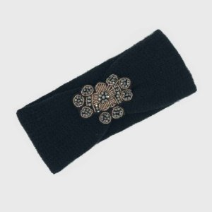 Turbante Headband Tricot Preto
