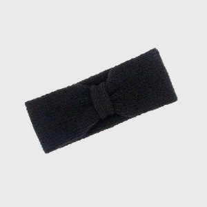 Turbante Headband Nózinho Tricot Preto